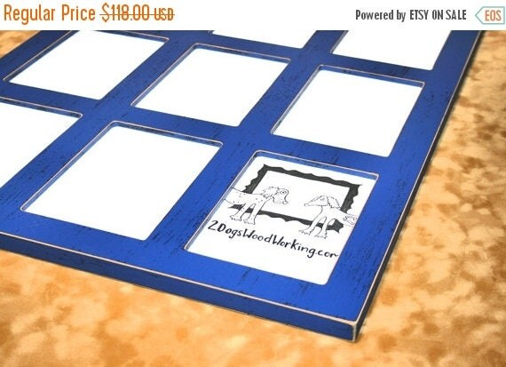Collage Picture Frame 12 4x6 Multi Picture By 2DogsWoodWorking