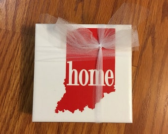Indiana Home State Ceramic Tile Coasters