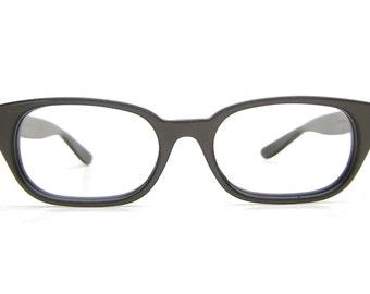 Vintage Mens Gray Horn Rimmed Bausch & Lomb Eyeglasses or Sunglasses Frame NOS Buddu Holly