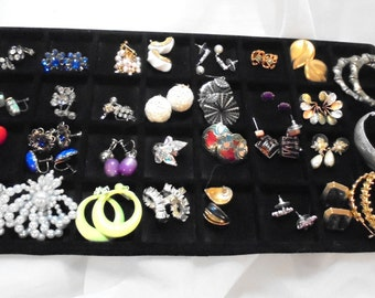 30 Pair of Vintage Earrings, Pierced, Clip and Screwback