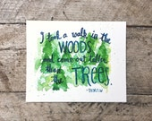 """Original Watercolor Painting - Taller than the Trees - 8""""x10"""""""
