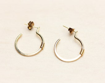 Round Drop Hoop Earrings