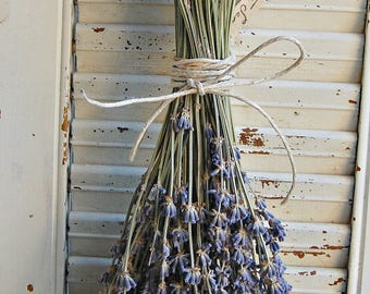 Eight - Bunches Dried Lavender /  Lavender Bouquet / French Lavender Bunch / Wedding Decor