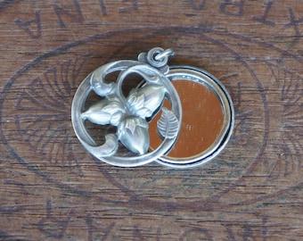 Antique French Acorn Mirror Pendant