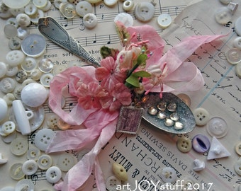 Valentine ornament - altered vintage spoon - Spoonful Of Love - NO024