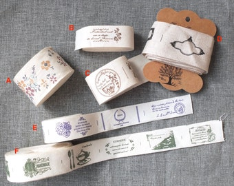 Sewing Tape/Ribbon Collection-Shabby Chic French Style Butterfly Rose Floral Lace Frame Afternoon Tea Paris Sewing Labels(Choose Pattern)