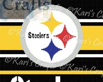 Pittsburgh Steelers Afghan PDF Pattern Graph + Written Instructions - Instant Download