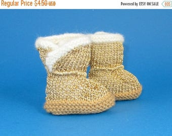50% OFF SALE Instant Digital File pdf download knitting pattern - Baby Golden Booties  pdf download knitting pattern
