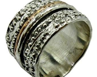 Spinner Ring Romantic Rings silver gold spinner rings Israeli Meditation rings for Man
