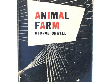 Hardcover with Dustjacket Animal Farm George Orwell First American Edition