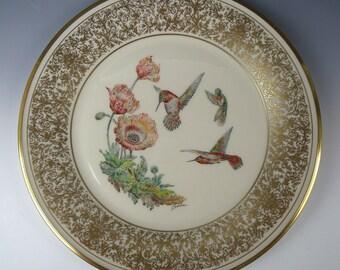 Vintage Boehm Bird Plate Rufous Hummingbird Plate with Box ~ 1974 ~ Susan G Komen Foundation