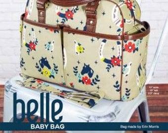 Swoon Belle Baby Bag Handbag Sewing Pattern, Diaper Bag Pattern