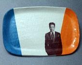 Robert Downey Jr Decal Ceramic Trinket Dish