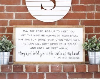 Irish Blessing Painted Sign