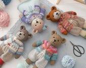 New! Tearoom Sock Yarn Bear Jacket/ PDF Knitting Pattern/ INSTANT download/ Doll clothes/doll clothing