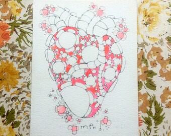 mend. - an original watercolor illustration