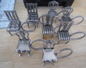 Williamsburg Kirk Stieff By Lenox Pewter Napkin Rings