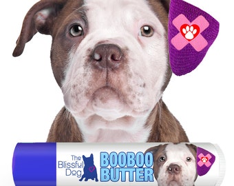 American Bulldog Boo Boo Butter Handcrafted Balm for Dog's Itchy Skin Discomforts Choice: .15 oz or .50 oz Tube with American Bulldog label