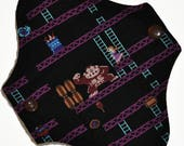 Liner Hemp Core- Donkey Kong Reusable Cloth Petite Pad- 6.5 Inches