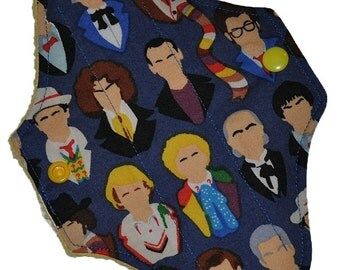 Liner Core- Dr Who Busts Reusable Cloth Mini Pad- 7.5 Inches (19 cm)