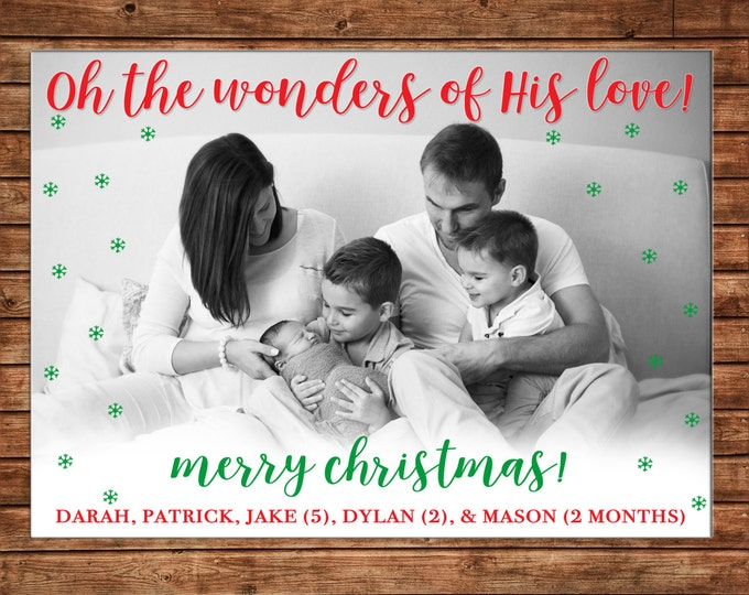 Photo Picture Christmas Oh the wonders of His Love - Digital File