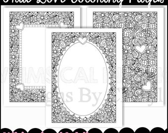 True Love Coloring Pages  - Immediate Download