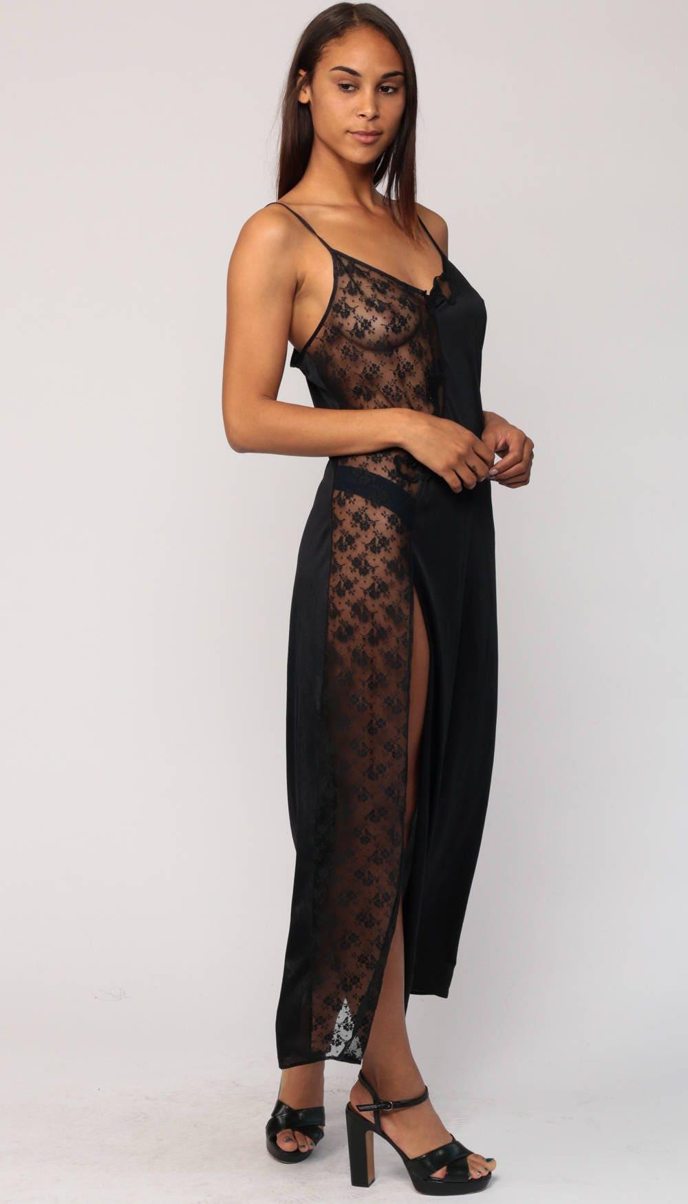 Long Spaghetti Strap Slip Dress