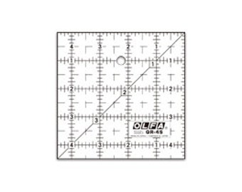 OLFA 4-1/2″ Square Frosted Acrylic Ruler (QR-4S)