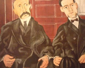 Vintage - Ben Shahn, Sacco and Vanzetti, 1931-32  Frmed PrintAmerican realist - for art lovers - color plate gift 8 by 10 inch