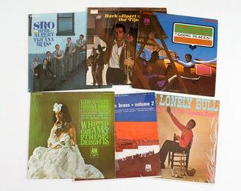 Vintage 1960s Herb Alpert and the Tijuana Brass Vinyl Record Album Collection Set of 6 VGC