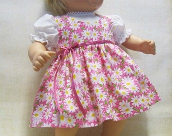 Pink Daisy Jumper and Blouse for Bitty Baby Doll