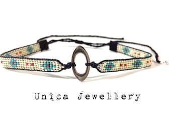 Choker, choker necklace, bead loom choker necklace, bohemian jewelry, tribal necklace