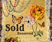 SOLD..botanical earrings fuchsia floral distressed handpainted assemblage butterfly fairy garden flower