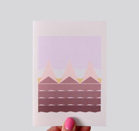 Geometric Fields Print Greeting Card