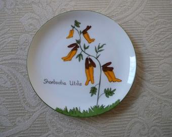 Vintage Home Serving Plate Collectible Shoebootia Utilis Plate Funny Garden Plate