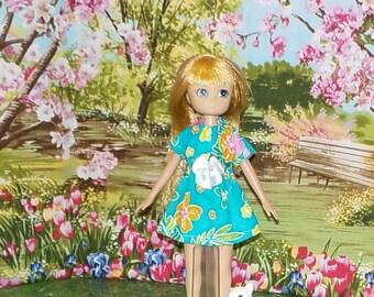 LTE-163) Lottie doll clothes, 1 pretty dress