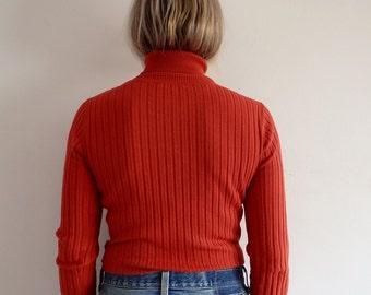 Turtleneck Vintage Ribbed Knit
