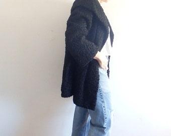 Lambs Wool Vintage Womens Black