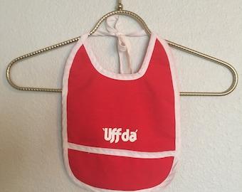 Vintage Uff Da Baby Bib