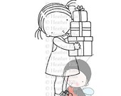 Timbre PI 076 numérique, téléchargement immédiat, Digi Stamp, l'Innocence Pure, artisanat, présent, cadeaux, Noël