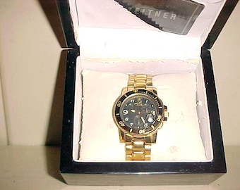 ZEITNER Watch Mastergraph SWISS Chronograph ZM1986 Large Face Good Band-Papers & Box-Runs-A Beauty!