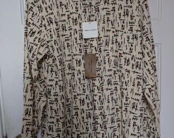 comme des garcons homme plus geometric men's shirt large xl rei kawakubo man