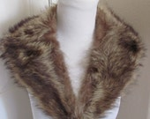 Antique Brown Fur Scarf Shawl Capelet Collar