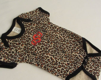 OSU Baby Onesie with Oklahoma State University Logo