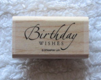 Stamp for Scrapbooking or Card Making- Birthday Wishes- Rubber Stamp