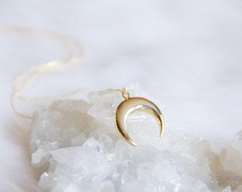 Crescent, Horn Necklace