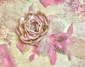 Large Over the Top Headband, Pink Champagne Light Gold Cream, Couture Baby Girl First Birthday, Extra Lace Flower Girl Beauty Pageant Photos