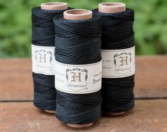 Black Bamboo Cord, Jewelry Cord, 1mm Cord, Jewelry Cord  -T61