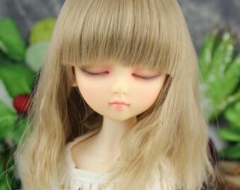 Fatiao - New Dollfie MSD Kaye Wiggs 1/4 BJD Size 7-8 inch Dolls Curls Wig - khaki