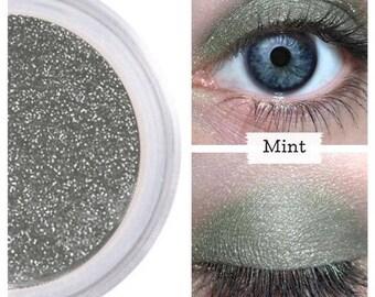 Mint Eyeshadow, Dark Metallic Green, Green Eyeshadow, Leafy Green, Professional Eyeshadow, Mineral Eye Shadow, Vegan Cosmetic, Green Shimmer
